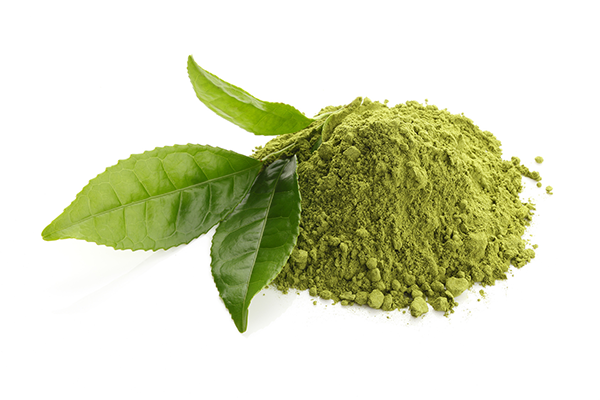 Green tea powder. Green tea contains theanine, an amino acid that has been shown to help people overcome addiction and withdrawal.