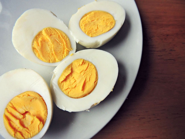 Eggs on a plate. Eggs contain choline, an important nutrient that help you overcome addiction and withdrawal.