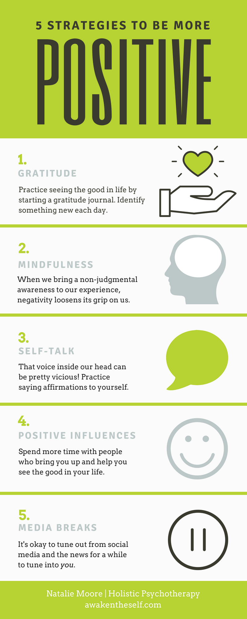 5 Strategies for How to be More Positive [with Infographic] — Articles  About Mental Wellness for Young Adults — Holistic Psychotherapy in Pasadena  and Online